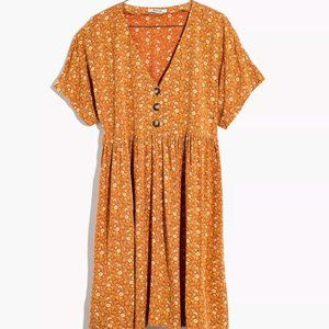 EUC Madewell Button-Front Babydoll Dress